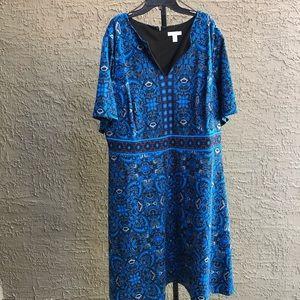 NWT London Styles Print Dress (22W)
